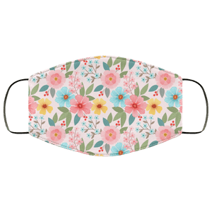 Hand drawn flowers seamless Face Mask