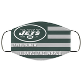 This Is How I Save The World New York Jets Face Masks - Men Women