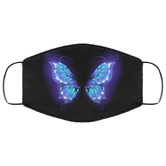 Glowing butterfly wings Face Mask - Men Women