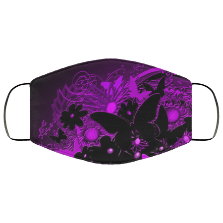 Black And Purple Butterfly - Black And Red Butterfly Face Mask - Teekoc