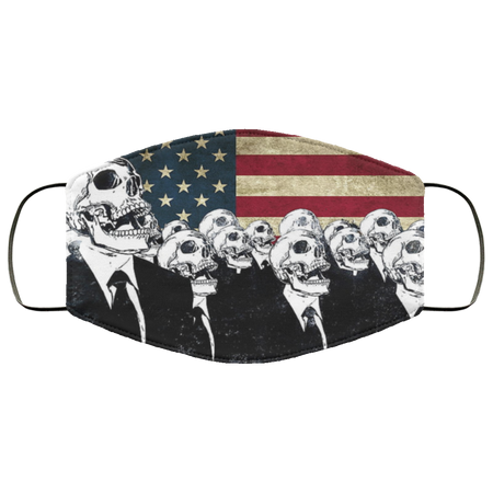 American Flag Skull Face Mask us - Men Women