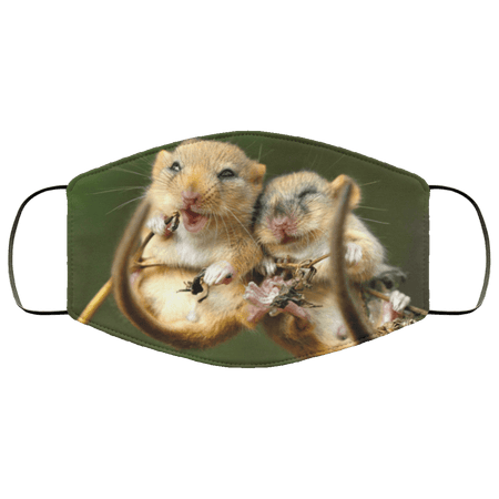 mouse, cute animals Face Mask - Teekoc