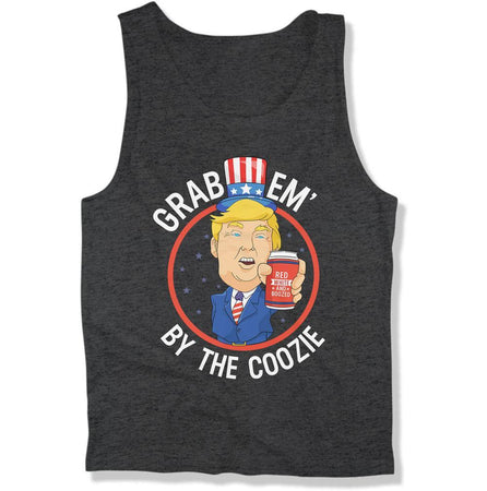 Grab Em' By The Coozie 4th of July Trump Humor- T Shirt  - FOJ-01 - Men Women