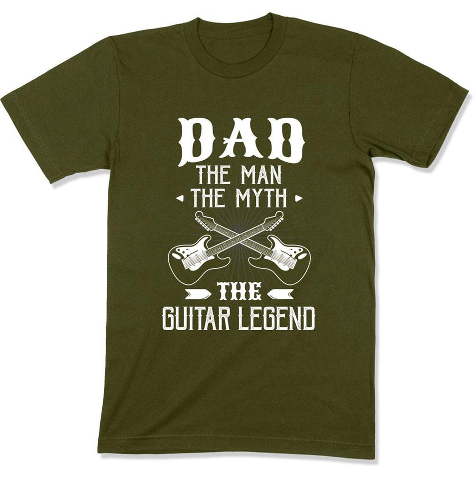 Dad The Man The Myth The Guitar Legend - T Shirt - GD-01 - Men Women