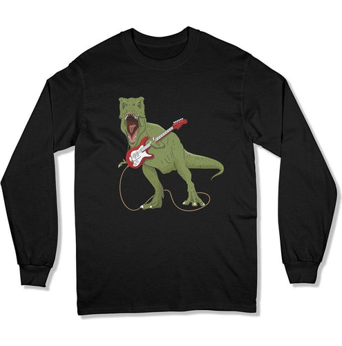 T-Rex Rocking Out Funny Guitar Player - T Shirt - Men Women