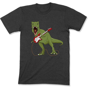 T-Rex Guitar Playing Dinosaur - T Shirt - GD-02 - Men Women