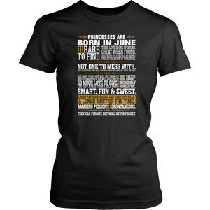 Rare To Find Princesses Are Born In June Shirt - Men Women