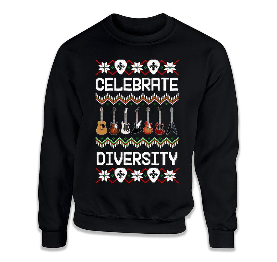 Celebrate Diversity Guitar Ugly Sweater - ILA-41 T Shirt - T Shirt - Men Women