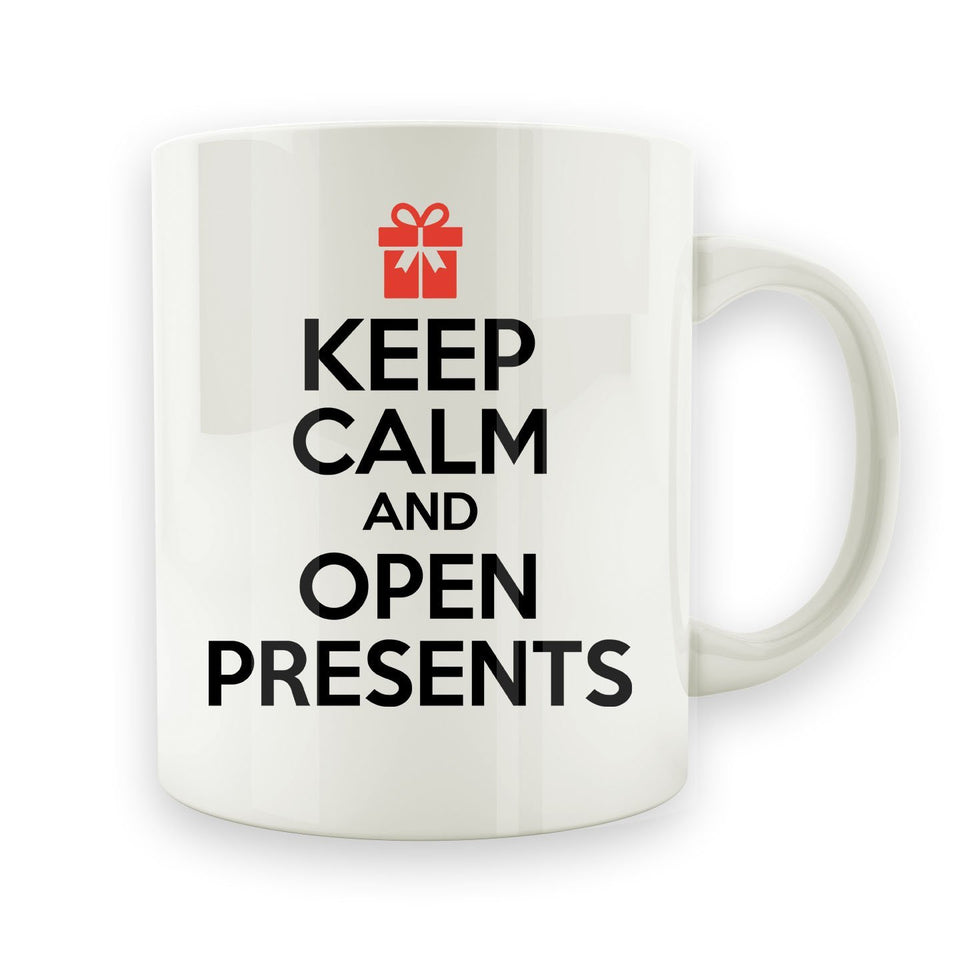 Keep Calm and Open Presents - 15oz Mug - Men Women