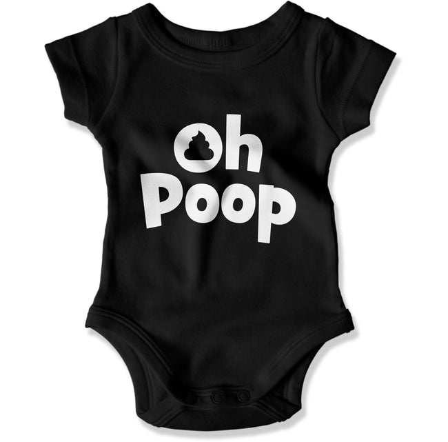 Oh, Poop - Baby Bodysuit - Men Women