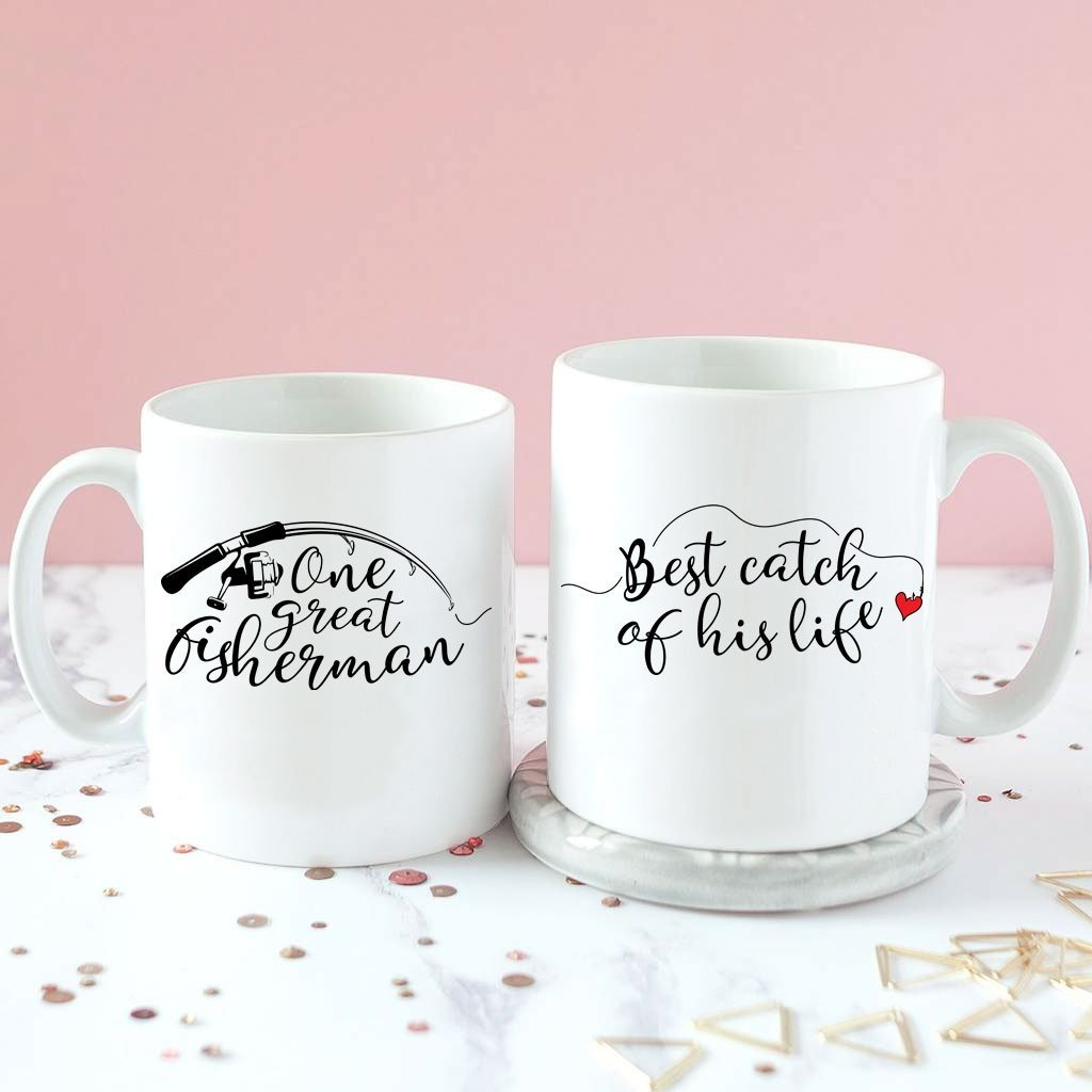 Wife Was The Best Catch Of His Life Mugs - VAL-07-08 - Men Women