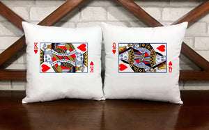 King And Queen Cards Pillow Cases - VAL-45-46 - Men Women