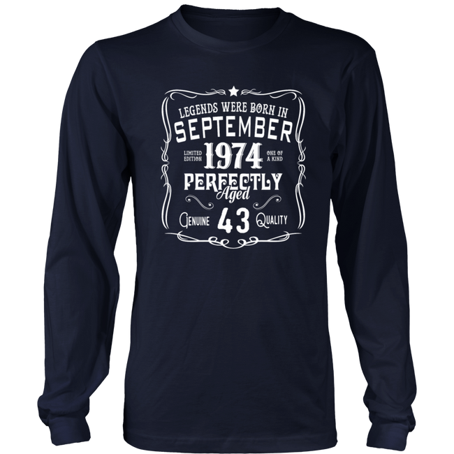 Legends Were Born In September 1974 Shirt 43rd Bir Men's Women's T Shirt - Men Women