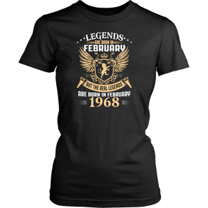 Kings Legends Are Born In February 1968 Men's Women's T Shirt - Men Women