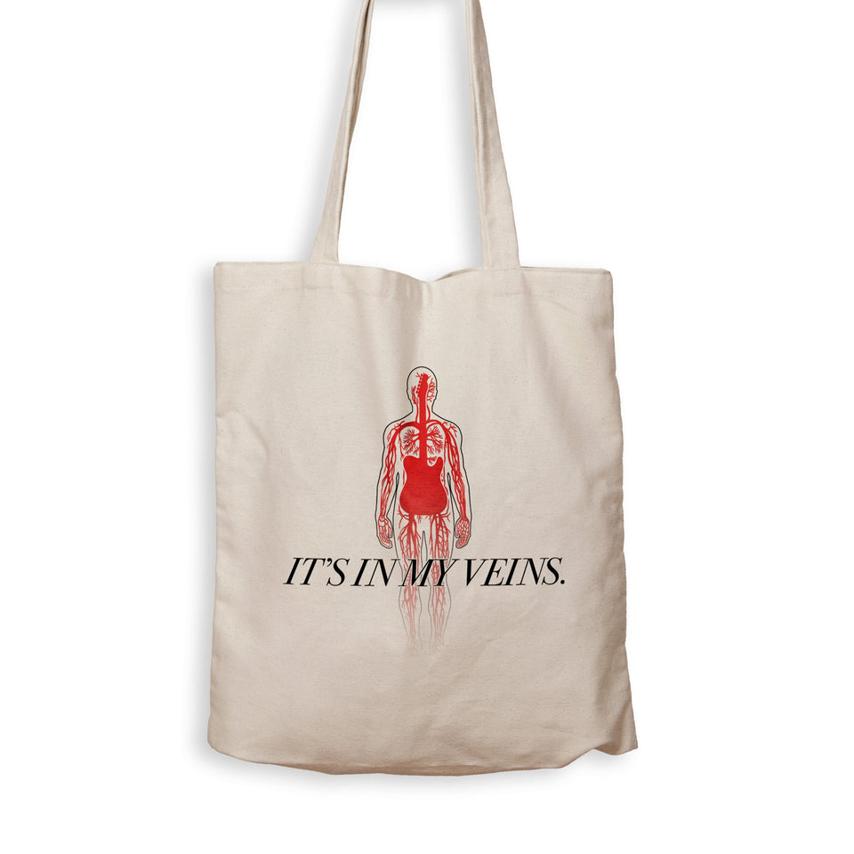 Guitar Is In My Veins - Tote Bag - Men Women