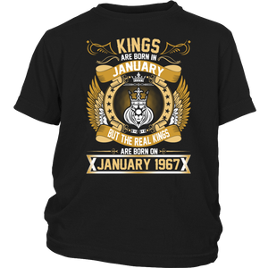 The Real Kings Are Born On January 1967 T-Shirt - Men Women