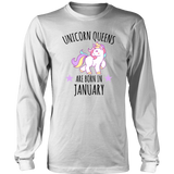 Unicorn Queens are born in January Birthday Gift - Men Women