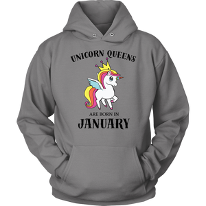 Unicorn Queens Are Born In January Gift T-Shirt - Men Women