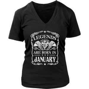 Legends are born in January Birthday Gift T-Shirt - Men Women