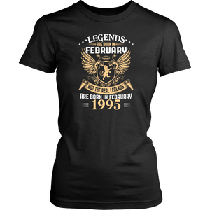 Legends Are Born In February 1995 Gift T Shirt - Men Women