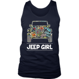 Jeep Girl Women's Graphic, Women's Jeep Car Graphic T-shirt - Men Women