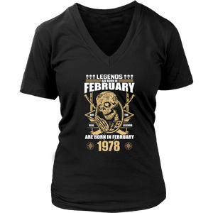 Legends are Born in February But The Real Legends Men's Women's T Shirt - Men Women