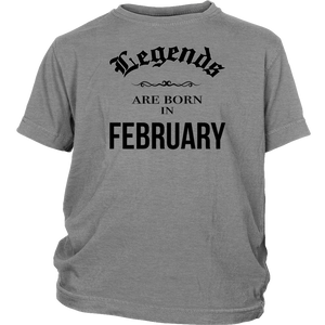 Birthday Legends are born in February Funny Shirt - Men Women
