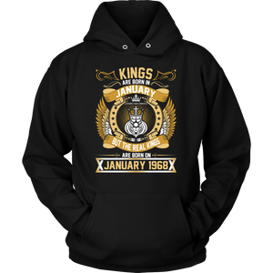 The Real Kings Are Born On January 1968 T-Shirt - Men Women