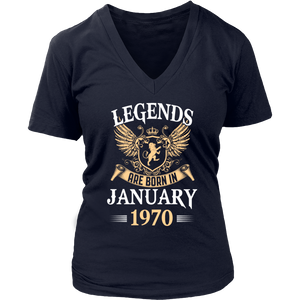 Legends Are Born In January 1970 T-Shirt - Men Women