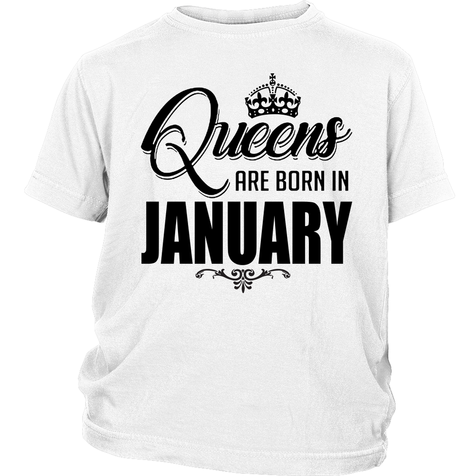 Queens Are Born In January T-Shirt 2018 (V2) - Men Women