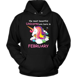 Unicorns Are Born In FEBRUARY Beautiful Unicorn Bi Gift T Shirt - Men Women