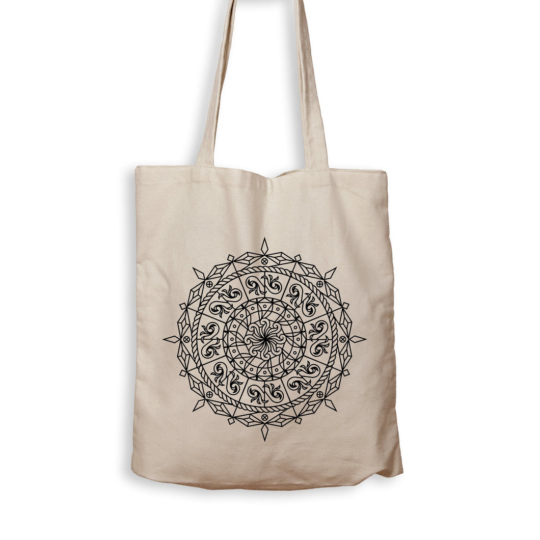 Mandala Compass - Tote Bag - Men Women