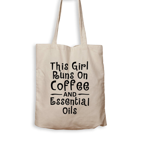 This Girl Runs On Coffee And Essential Oils - Tote Bag - Men Women