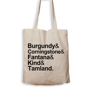 BURGUNDY & CORNINGSTONE & FANTANA & KIND & TAMLAND. - Tote Bag - Men Women