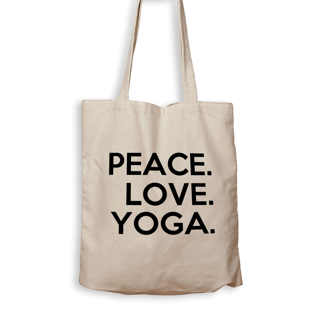 Peace. Love. Yoga. - Tote Bag - Men Women