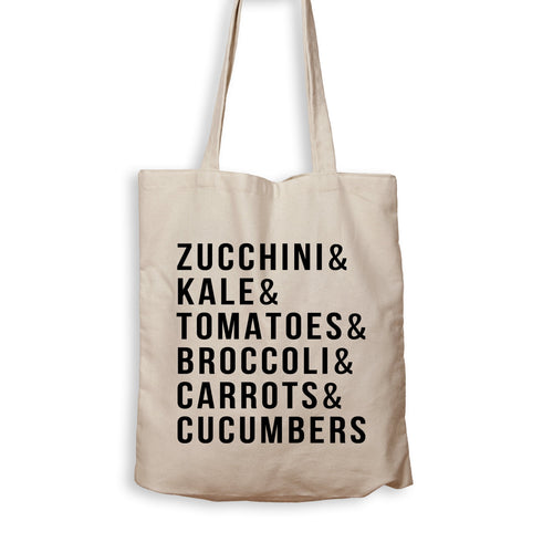 Zucchini & Kale & Tomatoes & Broccoli & Carrots & Cucumbers - Tote Bag - Men Women