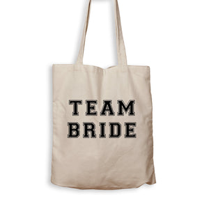 Team Bride - Varsity - Tote Bag - Men Women