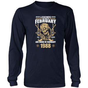 Legends are Born in February But The Real Legends Hoodie Tank-Top - Men Women