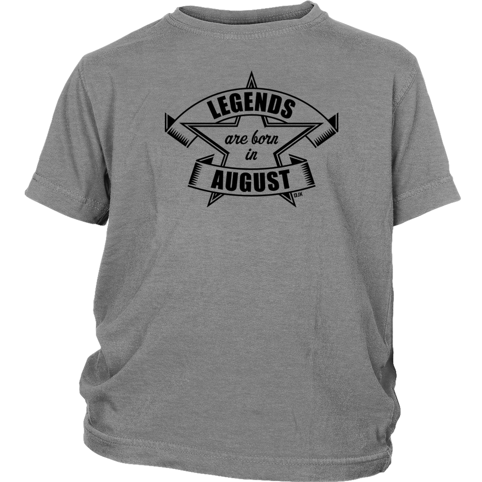 Legends are born in August (Birthday Present Gift) Gift T Shirt - Men Women