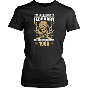 Legends are Born in February But The Real Legends Gift T Shirt - Men Women