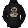 Legends Are Born In February 1999 Funny Shirt - Men Women
