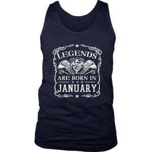 legends-are-born-in-JANUARY Gift T Shirt - Men Women