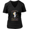 Unicorns are Born in February Men's Women's T Shirt - Men Women