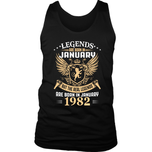Legends Are Born In January 1982 T-Shirt - Men Women