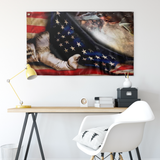 WELDER HAND PULLING AMERICAN FLAG Wall Flag - Men Women