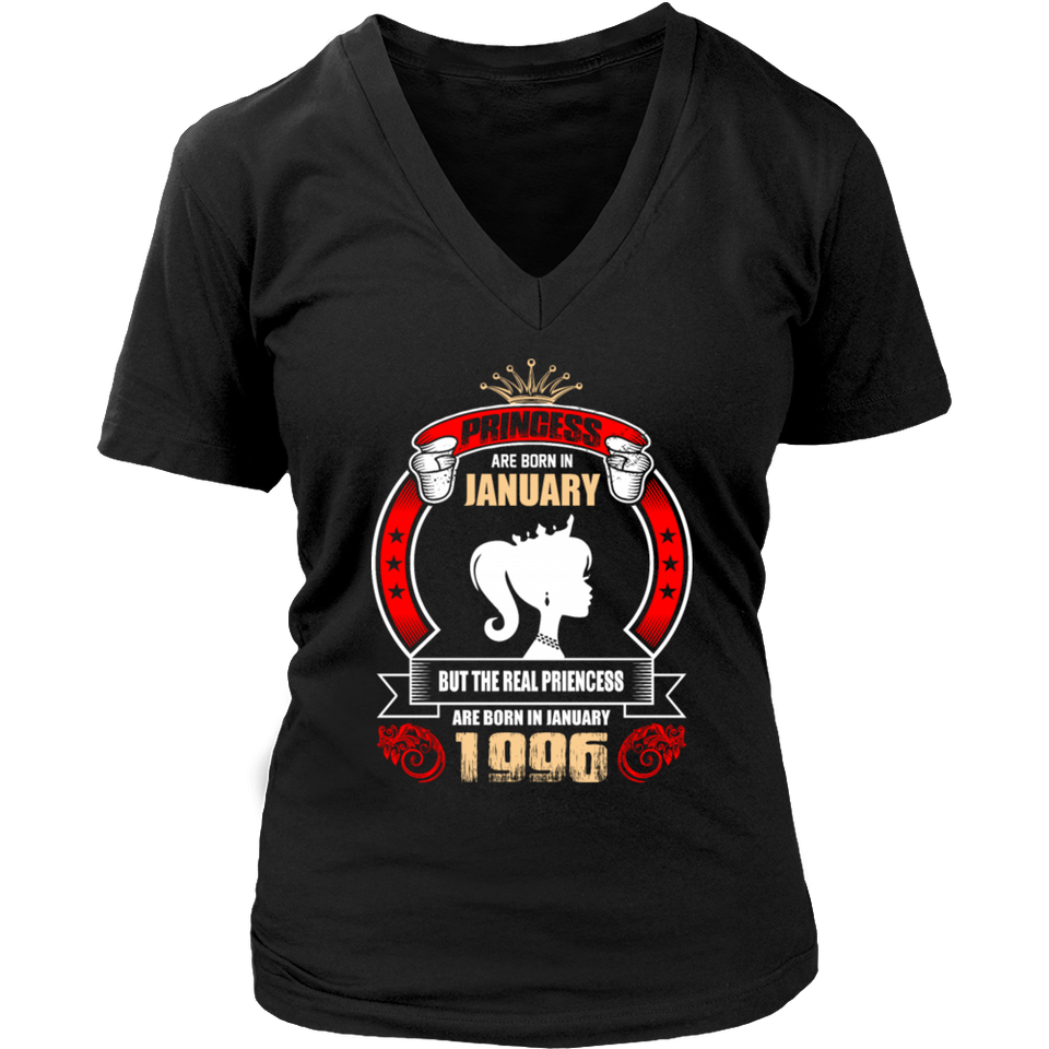 Princess are Born in January But Only Real Princess are Born in January 1996 T-Shirt - Men Women