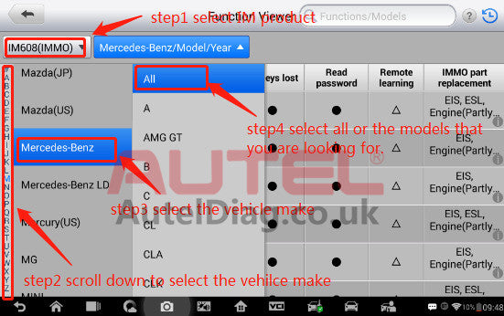 How to check whether the immo function is supported or not with your vehicle 3
