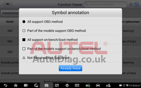 How to check whether the immo function is supported or not with your vehicle 5