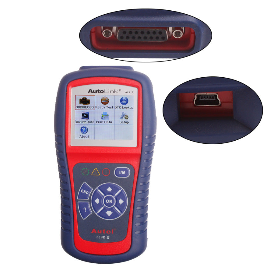 Autel AutoLink AL419 OBDII and CAN Scan Tool Support Online Update - Autel Authorized Dealer-Auto intelligence Tools