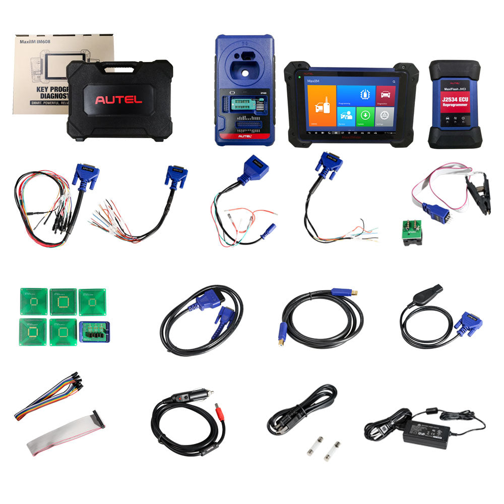 Autel MaxiIM IM608 Professional Key Programming Tool with IMMO & Key Programmer XP400 & J2534 Reprogrammer plus Autel G-BOX2 Adapter - Autel Authorized Dealer-Auto intelligence Tools